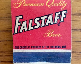 Vintage Falstaff Beer Matchbook