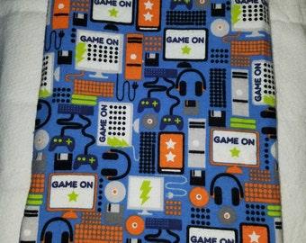 Video game baby blanket