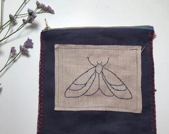 Linen Pouch 'Moth'