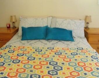 Multi-Coloured Bed Runner