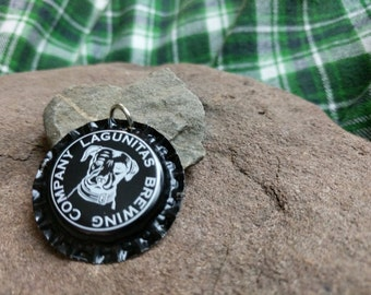 Bottle Cap Pendant - Lagunitas Brewing Co. (Black)