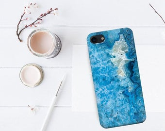 Blue quartz case for iPhone 7 iPhone 6 case iPhone 5 case iPhone 7 blue crestal case for iPhone SE iPhone 6s Plus case iPhone 7 Plus case