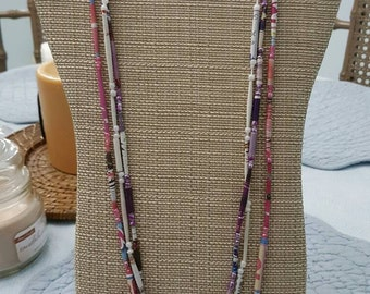 Windswept beaded necklace