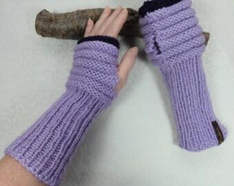 Arm warmers lilac, wrist warmers