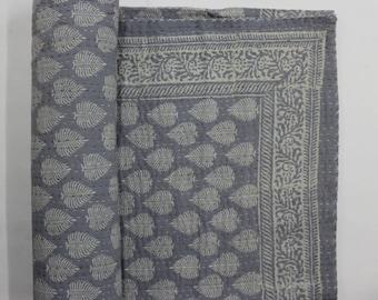 Kantha Quilt, Kantha Throw ,Vintage Hand made kantha  quilt vintage throw Queen size Throw handmade kantha gray color