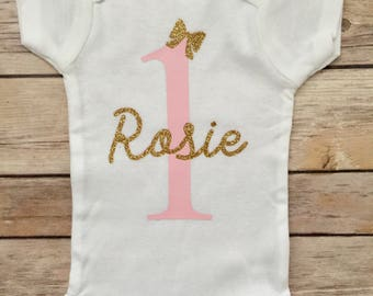 First Birthday Personalized Onesie®,  1st Birthday Onesie®, Personalized Birthday Onesie®, Custom Birthday Onesie®, Girl 1st Birthday