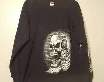 Hot leathers Skull With Guns Longsleeve