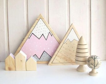 Wooden Decorative mountains