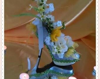 Customized High heel shoe centerpiece