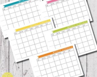 weekly schedule planner, A4 weekly schedule download, planner