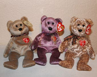 Ty Beanie Babies Siganture Bears Set Of 3