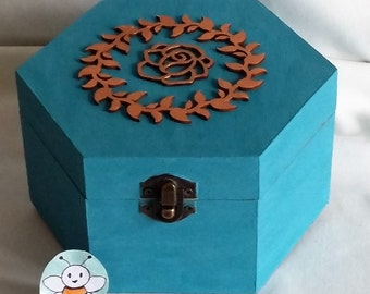 Teal & Bronze Jewellery Box