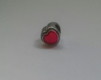 Pink heart shaped charm