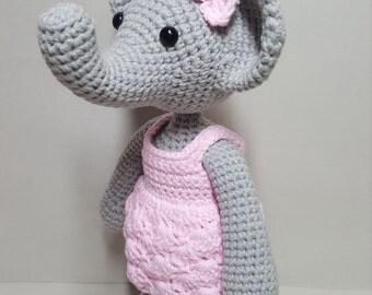 crochet amigurumi pattern miss elephant