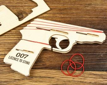 Rubber Band Gun, Elastic Band Gun, Rubber Band Shooter, Elastic Band Shooter, Rubber Band Hand Gun