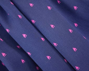 Navy Fabric  Pink Motif