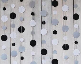 Nobile Paper garland - gray, black, white