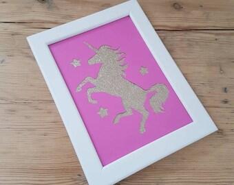 Handmade Unicorn Papercut Frame
