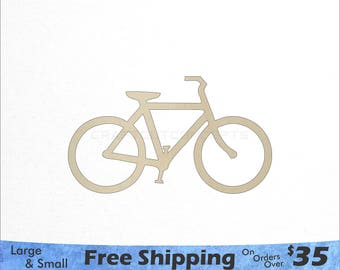 Bicycle Shape - Large & Small - Pick Size - Laser Cut Unfinished Wood Cutout Shapes (SO-0075)