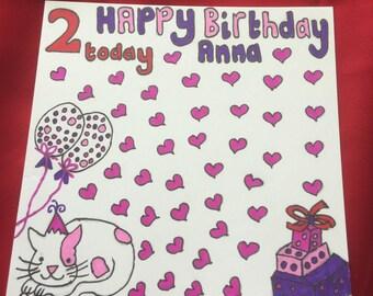 2 year old girl - birthday card