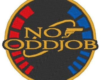 007 Goldeneye - No Oddjob embroidered patch
