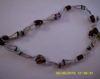 Arctic Eden (interwoven beaded necklace)