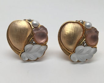 """Rare Vintage Alexis Bittar """"Candied Fruit"""" Earrings"""