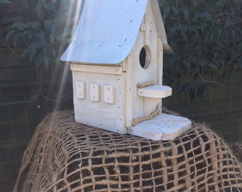 Birdhouse White Church