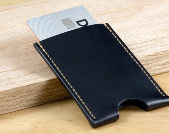 Leather Card Holder // Sleeve Wallet // Minimalist Wallet // Business Card Holder // Made in USA // Gifts for Him