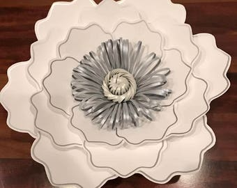 SVG Petal #35 Paper Flower Template with base, DIGITAL - Design by Annie Rose - Cricut and Silhouette Ready #35