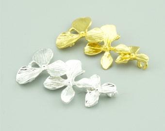 10pcs 18x35mm Flower Charm Pendants,Flower Connectors,Orchid Charm Pendants ZT1287