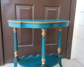 Antique Half-Moon Side Table