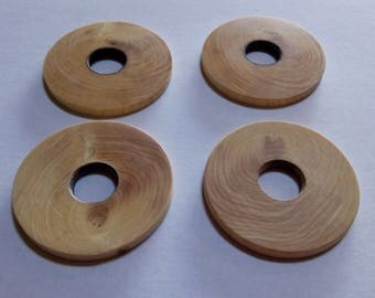 4 washers boxwood for fork BMA - Ø35 hole Ø10