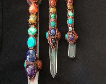 Crystal chakra wand