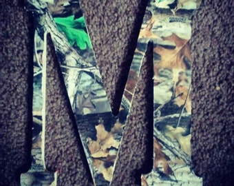 Camouflage Wood Letters
