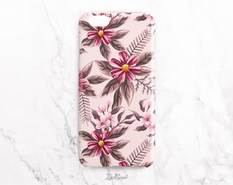 Floral iPhone SE Case, Pink Flowers iPhone 5S Case, iPhone 6S Plus Case, Galaxy S7, Case Personalized iPhone 6 Case