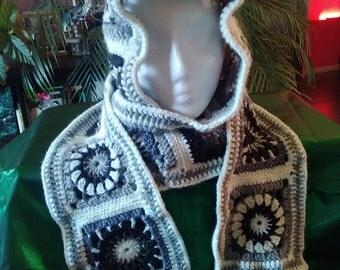 Scarf Hoodie GRANNY 100% handmade