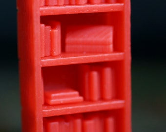 Miniature Customizable Bookcase - Scrolls or Books - why not Both?