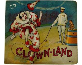 1916 A Trip to Clown Land Childrens Book No. 14