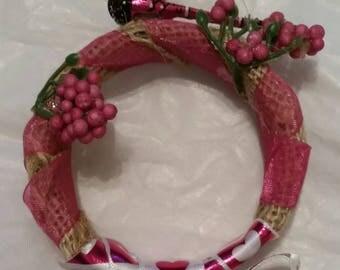 Dark pink baby Dragonfly wreath