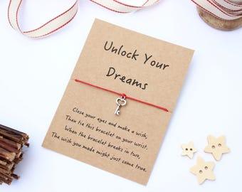 Dreams Wish Bracelet, Unlock Your Dreams Wish Bracelet, Dreams Friendship Bracelet, Follow Your Dreams Bracelet, Dream Bracelet, Dreams Gift