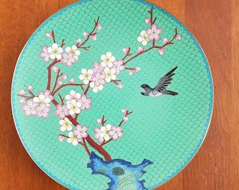 Vintage oriental mid century decoration plate