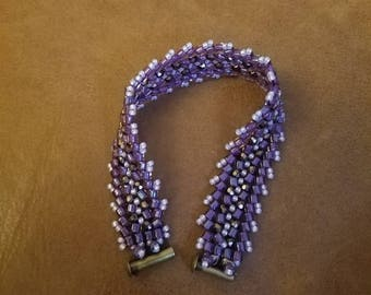 Purple Herringbone Bracelet