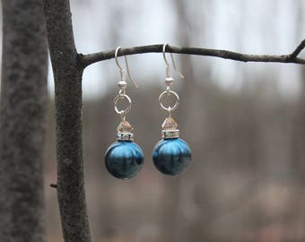 "Earrings ""Blue Pearl Star"""