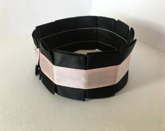 Pleated Satin Collar- Baby Pink