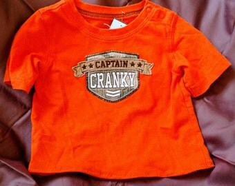 Captain Cranky Pup Shirt Size Small