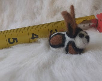 Needle Felted tricolor Bunny
