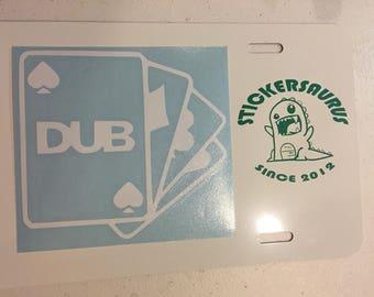 Dub Card Deck Decal