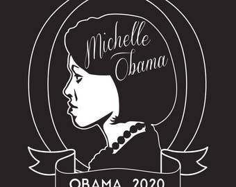 Michelle Obama 2020 T Shirt, FLOTUS Fan Shirt Men's and Women's Unisex Crewneck Tumblr Tee, Michelle Obama for President T-Shirt