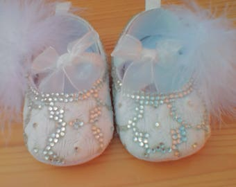 STUNNING crystal baby pumps